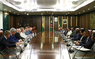 Встреча В.Матвиенко сПрезидентом Республики Намибии Хаге Готтфридом Гейнгобом