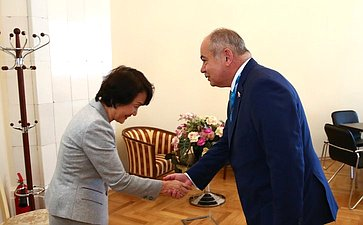 Двусторонняя встреча И.Умаханова смэром г. Йокагама Фумико Хаяси (Япония)