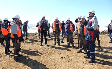 Баир Жамсуев посетил площадку строительства горно-металлургического комбината «Удокан» вКаларском районе Забайкальского края