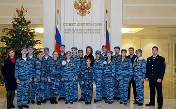 Представители детского общественного движения «Юный друг полиции» вСовете Федерации