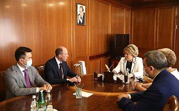 Встреча Председателя СФ Валентины Матвиенко сруководителями Республики Алтай