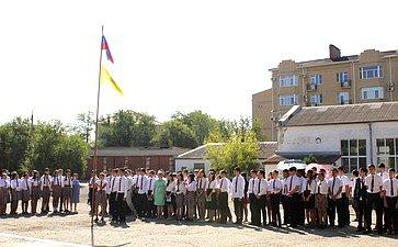 Алексей Майоров принял участие вторжественной линейке, посвященной Дню знаний вМБОУ «Элистинский технический лицей»