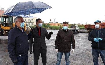 Баир Жамсуев проверил ход строительных работ насоциальных объектах всельских поселениях Могойтуйского района Агинского Бурятского округа