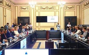 Встреча Председателя Совета Федерации Валентины Матвиенко сПредседателем Национальной ассамблеи народной власти иГосударственного Совета Республики Куба Эстебаном Ласо Эрнандесом