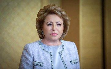 Брифинг В. Матвиенко поитогам XI Форума женщин– спикеров парламентов вАбу-Даби