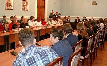 Заседание Молодежного дискуссионного клуба города Череповца