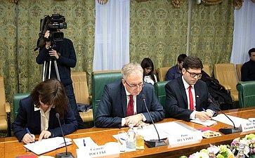 Встреча Константина Косачева сЧрезвычайным иПолномочным Послом Королевства Норвегия вРоссийской Федерации Руне Ресаландом
