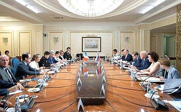Встреча Д.Мезенцева спредседателем Комиссии повопросам экономики Сената Французской Республики С.Прима