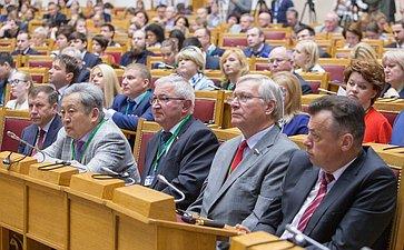 Пленарное заседание VII Невского международного экологического форума Тулохонов, Дидигов, Савинов