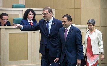 К. Косачев иПредседатель Палаты сенаторов Генерального конгресса Мексики Э. Арройо
