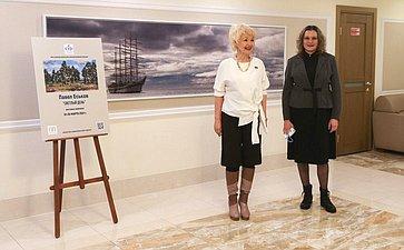 Дина Оюн открыла вздании Совета Федерации выставку пейзажей Павла Еськова «Светлый день»