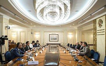 Встреча Константина Косачева сделегацией Сената Пакистана воглаве ссенатором С.Ш.Фаразом