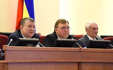 Евгений Бушмин входе рабочей поездки вРостов-на-Дону принял участие в47-м заседании Законодательного Собрания области