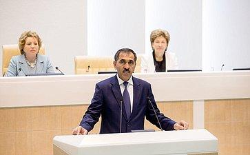 376-е заседание Совета Федерации Евкуров