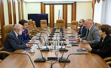 Встреча смеждународный арбитром, профессором вобласти международного публичного права М.Ивковичем