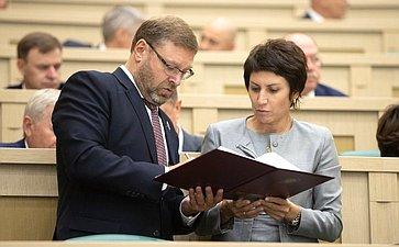 Константин Косачев иТатьяна Лебедева