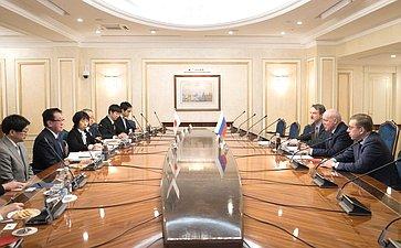 Встреча председателя Комитета СФ поэкономической политике Дмитрия Мезенцева свице-губернатором Хоккайдо (Япония) Ясухиро Цудзи