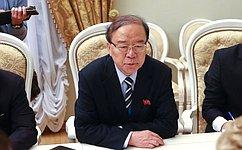 В. Матвиенко провела встречу сзаместителем Председателя Верховного народного собрания КНДР