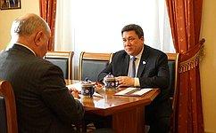 Навстрече сзамглавы МИД России Г.Карасиным обсуждалась предстоящая поездка делегации СФ вПольшу— В.Полетаев