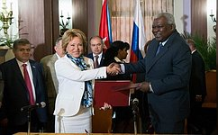 СФ иНациональная ассамблея народной власти Кубы подписали соглашение осотрудничестве