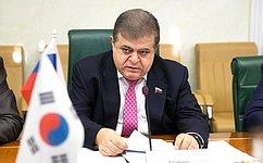 В.Джабаров: ВСовете Федерации выступают заразвитие совместных экономических проектов России, Южной иСеверной Кореи