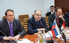 Вице-спикер СФ Ильяс Умаханов провел встречу сПредседателем Высшего судебного комитета повыборам Сирии Хишамом аш-Шааром