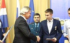 А. Пушков вПерми наградил детей-героев, проявивших мужество вэкстремальных ситуациях