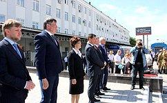 Е. Попова приняла участие вторжественной встрече ретропоезда «Военный эшелон»