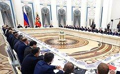 В. Матвиенко приняла участие взаседании Совета при Президенте РФ постратегическому развитию инациональным проектам
