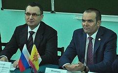 Н.Федоров встретился состудентами ипреподавателями Чувашского государственного университета
