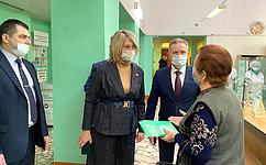 Н. Косихина иС. Березкин посетили пункты вакцинации откоронавируса вряде муниципальных районов Ярославской области