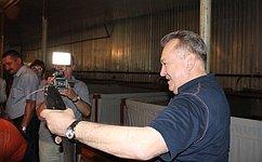 О. Пантелеев посетил новый комплекс рыбопроизводства вгороде Кургане