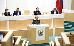 В. Матвиенко: Основные задачи весенней сессии связаны спреодолением последствий пандемии иадресной поддержкой граждан