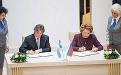 Совет Федерации иСенат Национального Конгресса Аргентины подписали Соглашение осотрудничестве