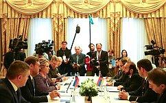 Председатель СФ, Председатель Совета МПА СНГ В.Матвиенко встретилась сПредседателем Национального Собрания Армении А.Мирзояном
