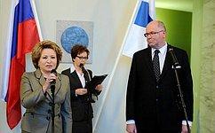 В. Матвиенко иПредседатель Парламента Финляндии обсудили перспективы перехода кбезвизовому режиму