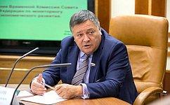 С. Калашников провел заседание Временной комиссии СФ помониторингу экономического развития
