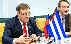 Российско-кубинские отношения основаны насовпадении национальных интересов, общих ценностях— К.Косачев