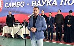О. Алексеев принял участие вторжественном открытии всероссийских соревнований посамбо вгороде Энгельсе