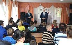 Н. Петрушкин посетил детский дом-школу Ардатовского района Республики Мордовия