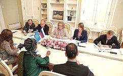 В. Матвиенко: Улучшение положения женщин— одна изключевых задач, стоящих перед мировым сообществом