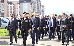 Врамках выездного совещания вРеспублике Дагестан сенаторы проинспектировали объекты инфраструктуры вМахачкале иКаспийске
