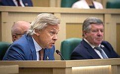 Входе 462-го заседания Совета Федерации сенаторы высказались поактуальным вопросам