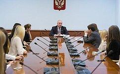И. Шубин встретился состудентами изПермского края