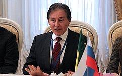 В. Матвиенко иглава Сената Национального конгресса Бразилии Э.Оливейра провели встречу