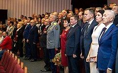 ВВолгограде сенатор Татьяна Лебедева поздравила комсомольцев со100-летием ВЛКСМ