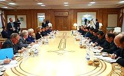 В. Матвиенко иА.Нурбердыева обсудили вопросы развития межпарламентского сотрудничества