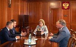 В.Матвиенко иН.Любимов обсудили перспективы социально-экономического развития Рязанской области