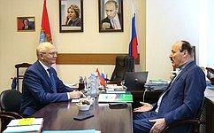 Ф. Мухаметшин провел встречу сПостоянным представителем РФ при Организации Исламского сотрудничества Р.Абдулатиповым