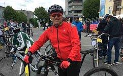 В. Харлов принял участие ввелопробеге, посвящённому Единому дню велопарадов вРоссии